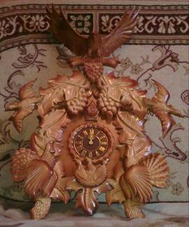 Часы резные из дерева пенза
