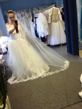 Новое свадебное платье+длинная фата 3