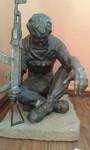 "Скульптура ""Черный тюльпан"""