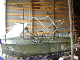 Реставрация и ремонт ходовых тентов, кресел, подушек на катера. 8