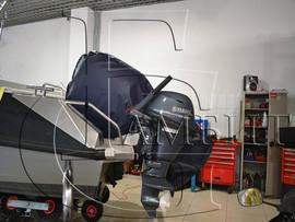 чехол на подвесной и стационарный мотор для катера 3