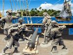 солдатики 1/32 Barzso Пираты с орудием + аксессуары 5 фигур