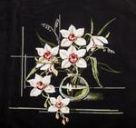 """Картина вышивка крестом """"Орхидеи"""""""