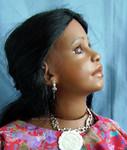 Коллекционная виниловая кукла Naila от Renate Hockh 69см