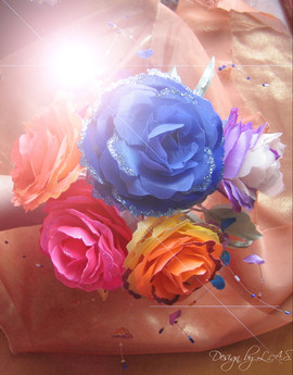 Цветы из ткани.Брошки.Букеты. 3