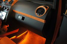 Атмосферная подсветка салона - оранжевая