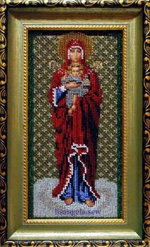 Продам икону, вышитую бисером. Валаамская икона Божией Матери.