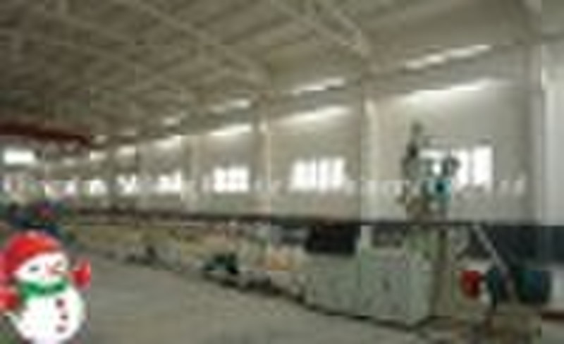 PP plastic pipe extruding production line--plastic