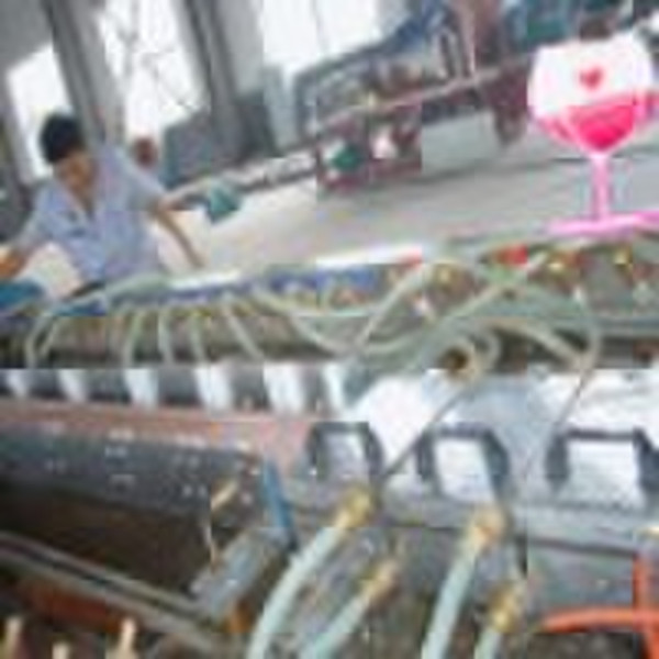 PE WPC floor decking plastic machinery