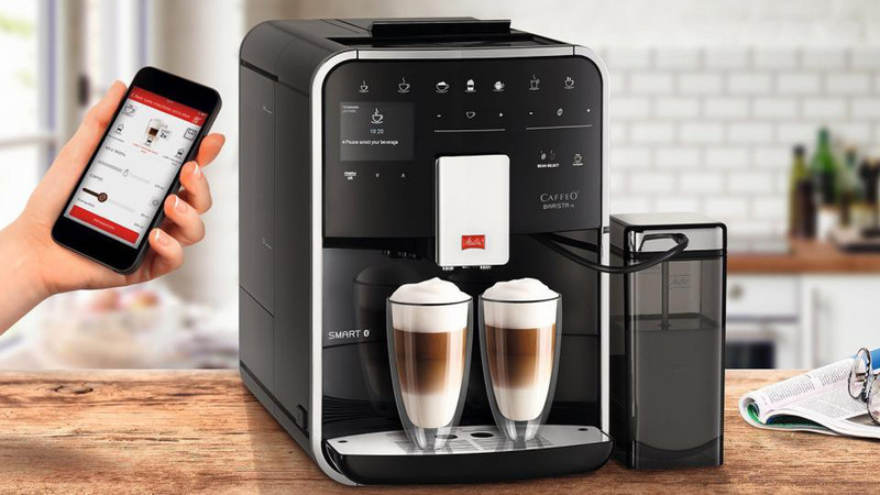 Melitta Caffeo Barista TS SMART, черная автоматическая кофемашина