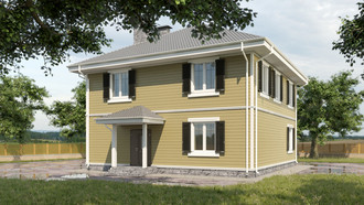 The finished project of the house 160 sq m / article AHT-111