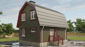 The project is a small house 79 sq m / article SPS-106
