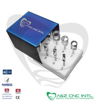 Dental Implant Trephine Drills Kit, Set of 8 PCs