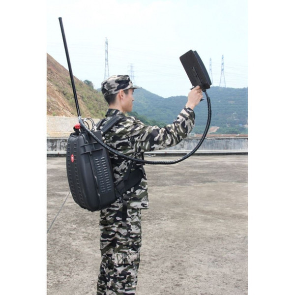 MENPACK DIRECTIONAL ANTENNA DRONE UAV 125W 5 BANDS JAMMER UP TO 1500M