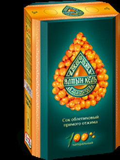 100% natural juice from Altai sea buckthorn
