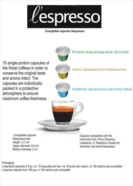 Caffè Trombetta L'Espresso capsules