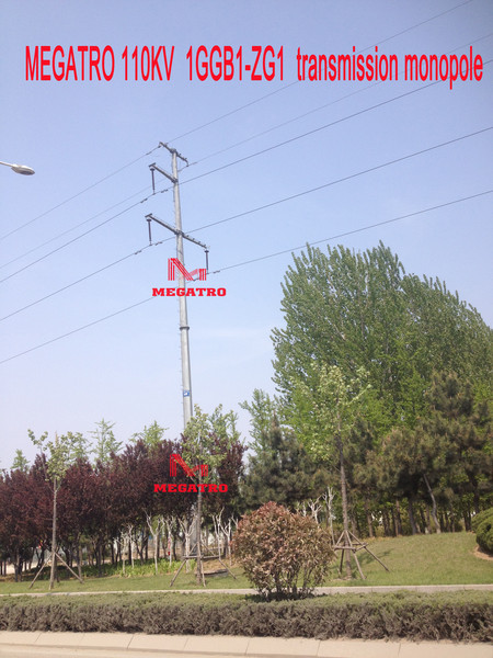 MEGATRO 110KV 1GGB1-ZG1 transmission monopole