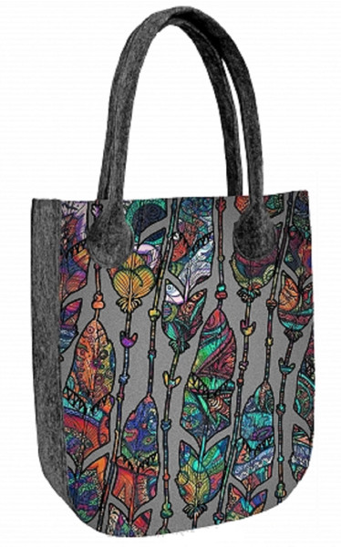 Handbags with motive felt bags CITY