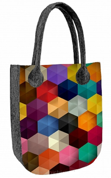 Handbag with motif felt bag CITY Factor