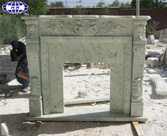 Mongolian Green Marble Fireplace Surround