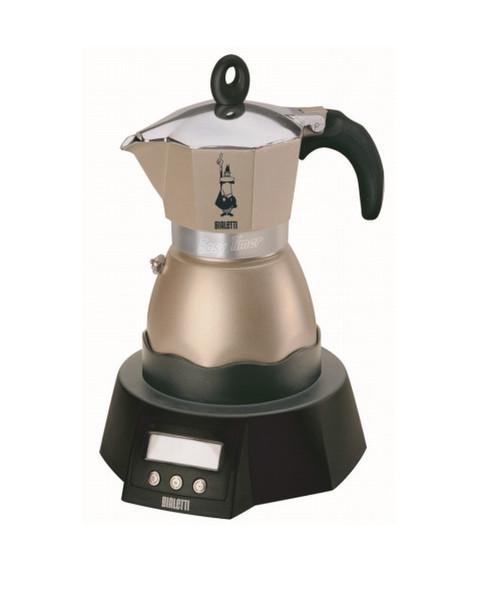 Bialetti Easy Timer Electric moka pot 3чашек Черный, Серый