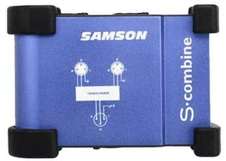 Samson S-combine 2 to 1 Microphone Combiner Синий AV ресивер