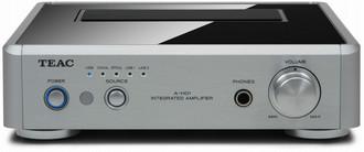 TEAC A-H01 2.0 Дома Проводная Алюминиевый, Черный усилитель звуковой частоты