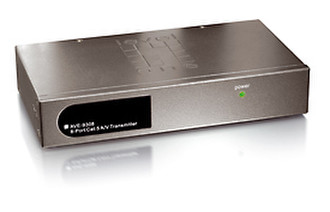 LevelOne AVE-9308 Long Range 8-Port Cat.5 A/V Transmitter Черный, Cеребряный AV ресивер