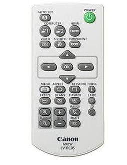 Canon LV-RC06 Нажимные кнопки Белый пульт дистанционного управления
