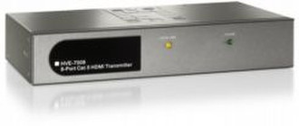 LevelOne 8-port HDMI Transmitter Черный, Cеребряный AV ресивер