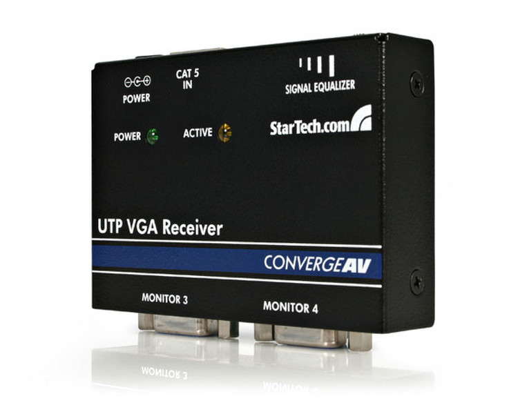 StarTech.com VGA Cat5 Receiver Черный AV ресивер