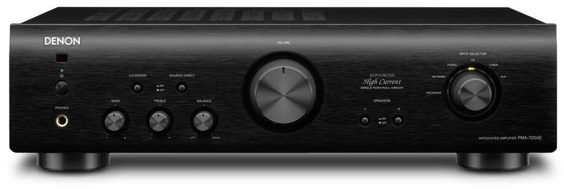 Denon PMA-720AE 2.0 Дома Проводная Черный усилитель звуковой частоты