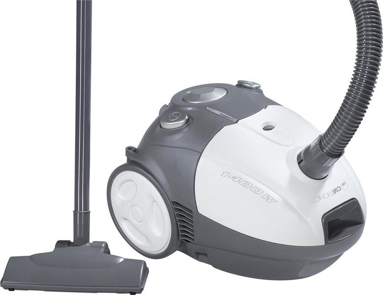 Clatronic BS 1264 Цилиндрический пылесос 1400Вт Серый, Белый