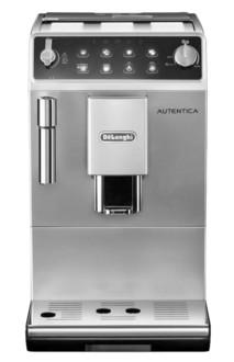 DeLonghi Autentica Отдельностоящий Автоматическая Espresso machine 2чашек Черный, Cеребряный
