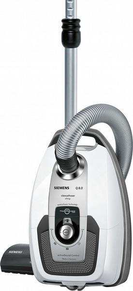Siemens VSQ8SIL66A Цилиндрический пылесос 650Вт A Черный, Серый, Белый пылесос