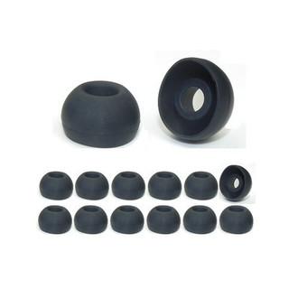 Earphones Plus 300-C-6BLK-6CLR-L Силиконовый Черный, Прозрачный 24шт подушечки для наушников
