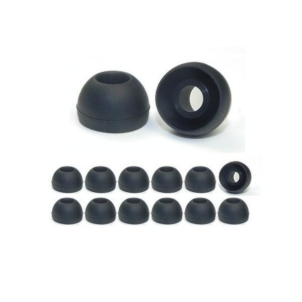 Earphones Plus 220-C-6BLK-6CLR-M Силиконовый Черный, Прозрачный 24шт подушечки для наушников