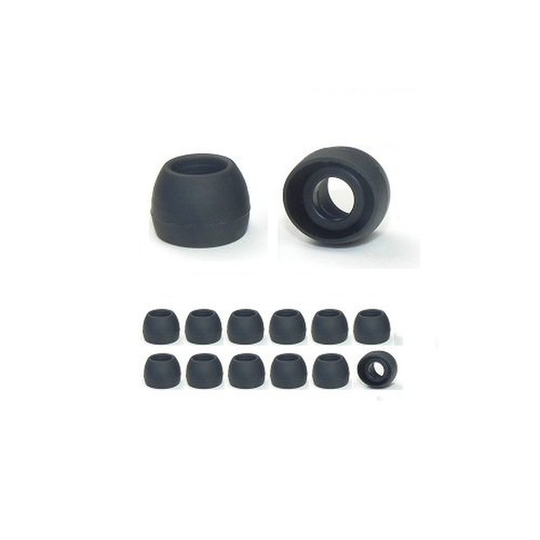 Earphones Plus 230-C-6BLK-6CLR-S Силиконовый Черный, Прозрачный 24шт подушечки для наушников