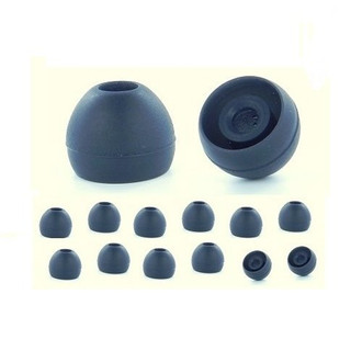 Earphones Plus 300-B-6BLK-6CLR-M Силиконовый Черный, Прозрачный 24шт подушечки для наушников