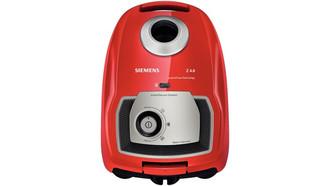 Siemens VSZ4G300 Цилиндрический пылесос 4л 700Вт A Черный, Красный пылесос