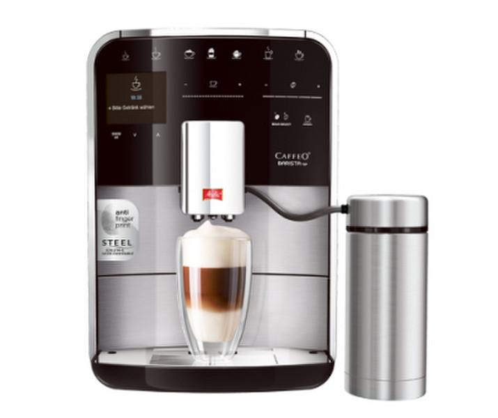 Melitta Caffeo Barista TSP Espresso machine 1.8л Черный, Нержавеющая сталь