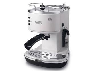DeLonghi ECO 311.W Отдельностоящий Руководство Espresso machine 1.4л 2чашек Черный, Нержавеющая сталь, Белый