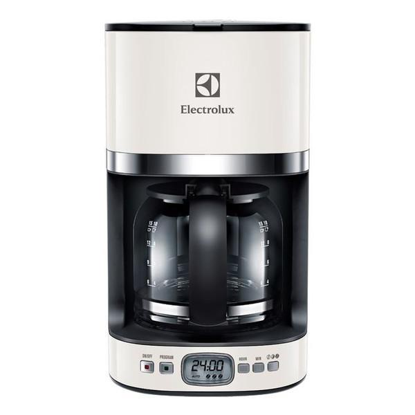 Electrolux EKF7500W Капельная кофеварка 1.375л Черный, Белый