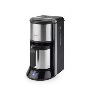 Korona 10291 Отдельностоящий Автоматическая Капельная кофеварка 1.25л 10чашек Черный, Нержавеющая сталь кофеварка