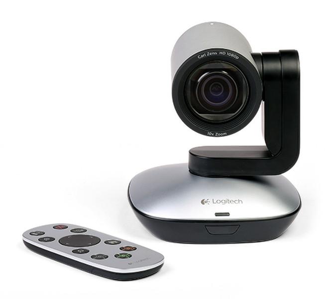 Logitech PTZ Pro Camera 1920 x 1080пикселей USB Черный, Серый вебкамера