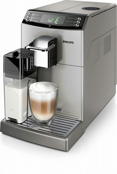 Philips 4000 series HD8847/11 Отдельностоящий Автоматическая Машина для эспрессо 1.8л 15чашек Cеребряный кофеварка