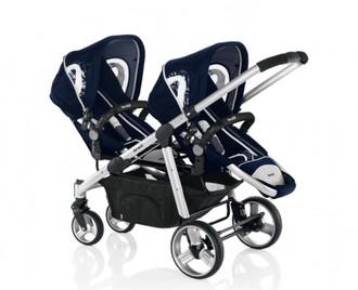 Brevi 781051 Tandem stroller 2место(а) Синий детская коляска