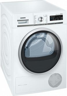 Siemens WT47W560FG Отдельностоящий Фронтальная загрузка 8кг A++ Белый сушилка для белья