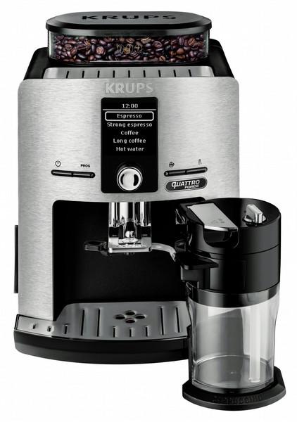 Krups EA82FD Отдельностоящий Автоматическая Espresso machine 1.7л 12чашек Нержавеющая сталь кофеварка