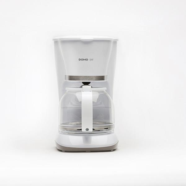 Domo DO476K Капельная кофеварка 1.5л 12чашек Белый кофеварка
